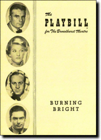 Burning Bright Playbill